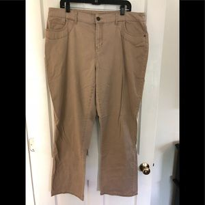 Ladies Plus New Directions Wide-Leg Khaki Pants